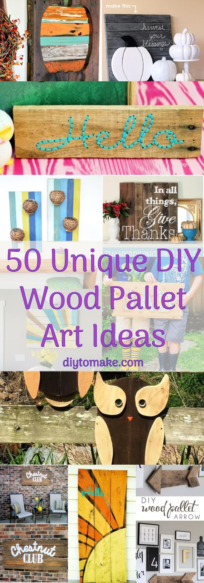 50 Unique DIY Wood Pallet Art Ideas