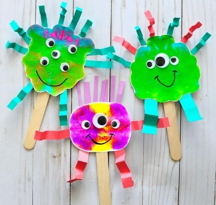 DIY Monster Puppets Craft For Kids