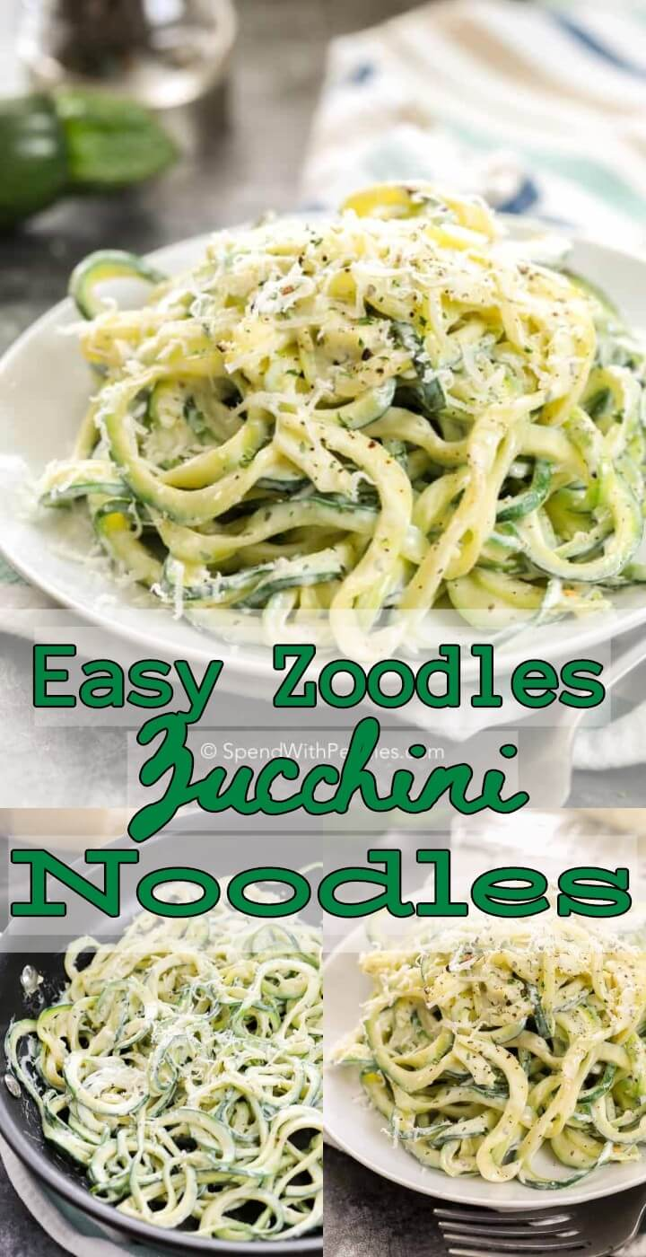 Easy Zoodles Zucchini Noodles