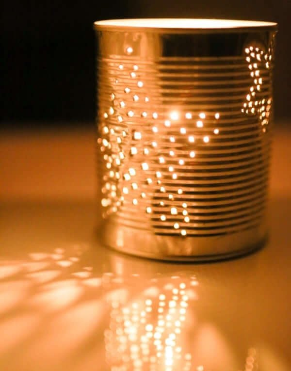 How To Make A Lamp From Tin Cans