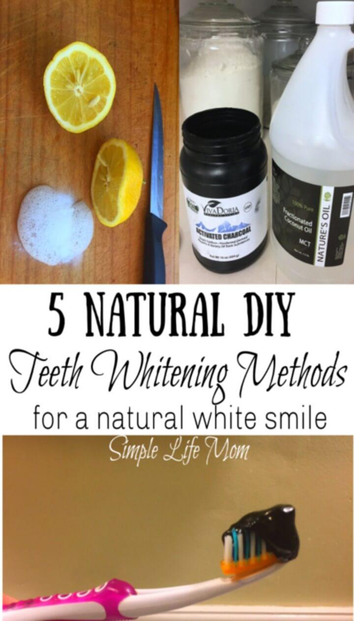 5 DIY Teeth Whitening Methods