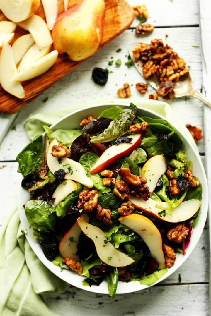 Apple Pear and Walnut Salad Recipe, diytomake.com