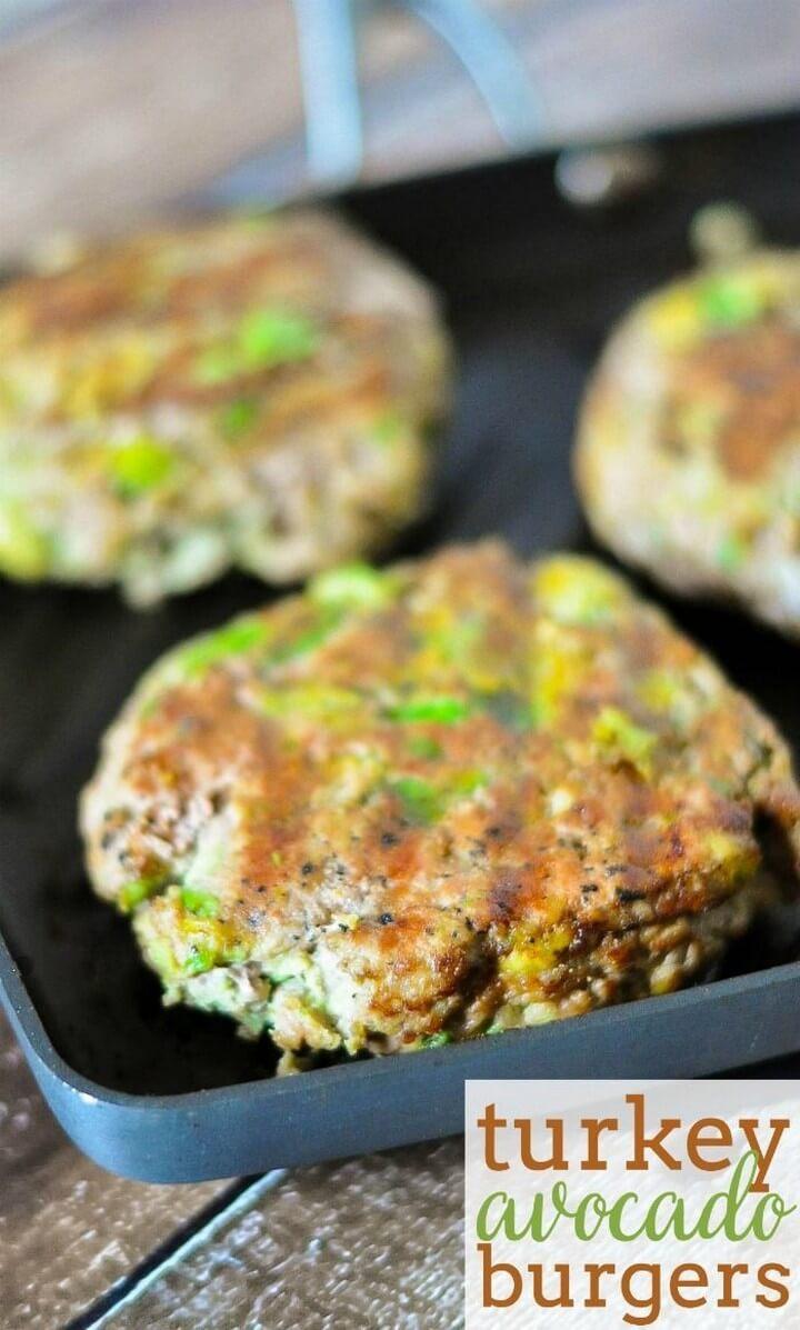 Avocado Turkey Burgers Recipe