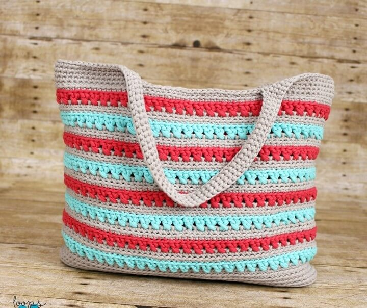 Beach Please Summer Tote Free Crochet Pattern Loops Love Crochet