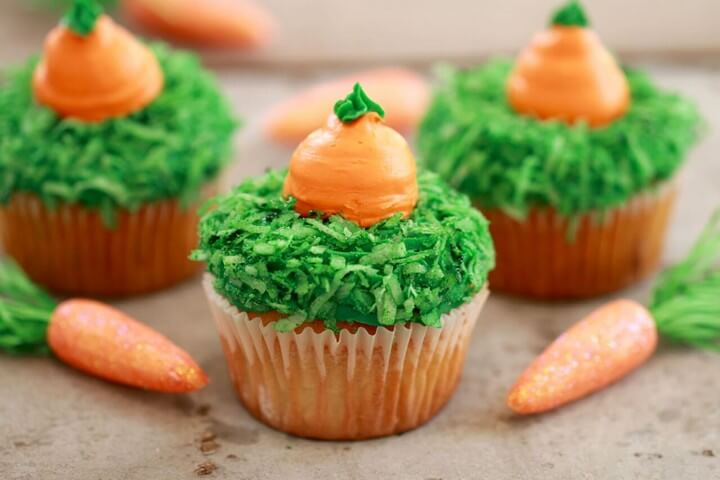 Carrot Cake Cupcakes Small Batch Cupcakes for Spring