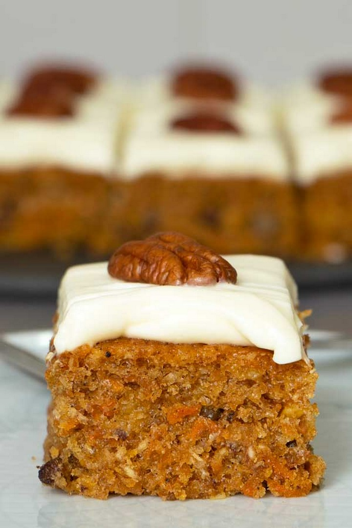 Carrot Cake with Pineapple and Pecans