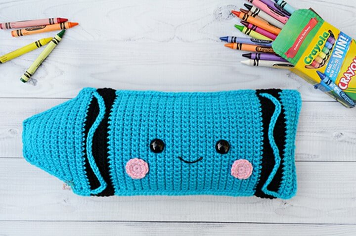 Crayon Kawaii Cuddler Free Crochet Pattern