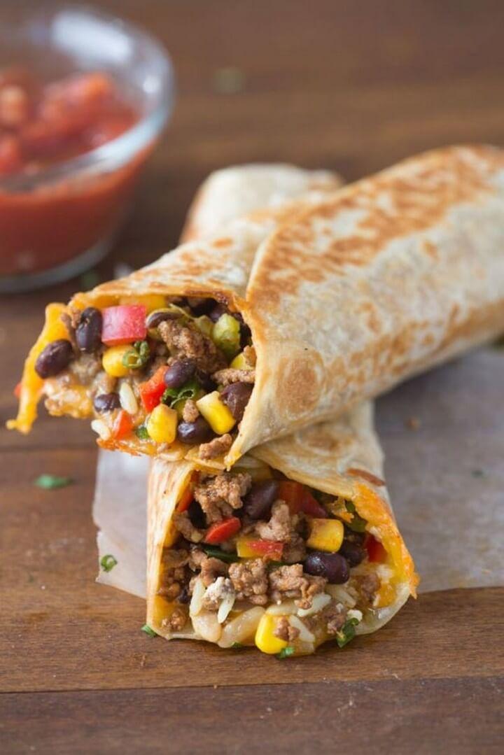 Crispy Southwest Wrap Dinner Recipe