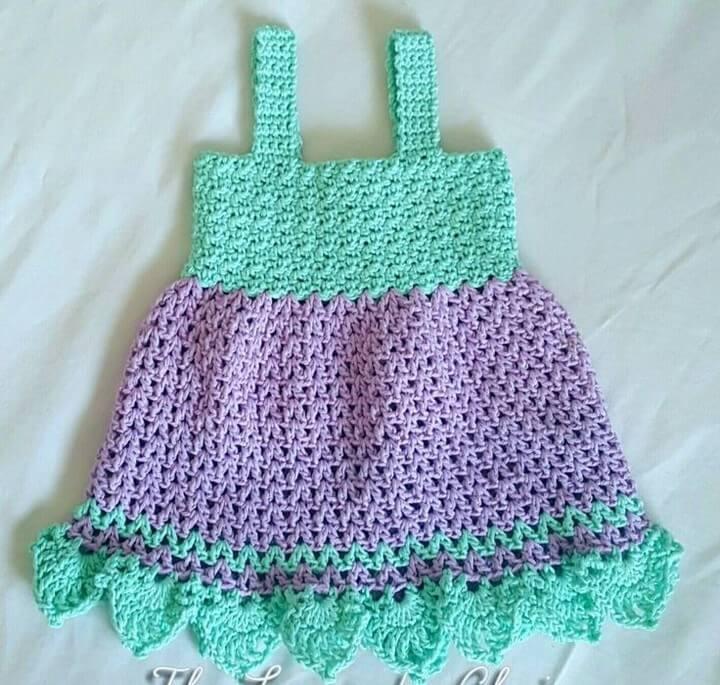 Crochet Baby Dress Free Pattern 1