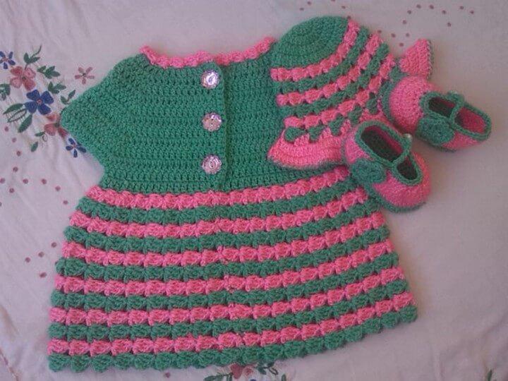 Crochet Bbay Dress Tutorial