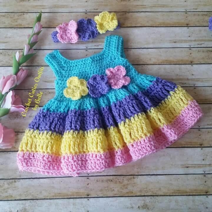 Crochet Flower Baby Dress Pattern
