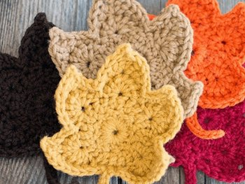 Crochet Leaves Free Pattern