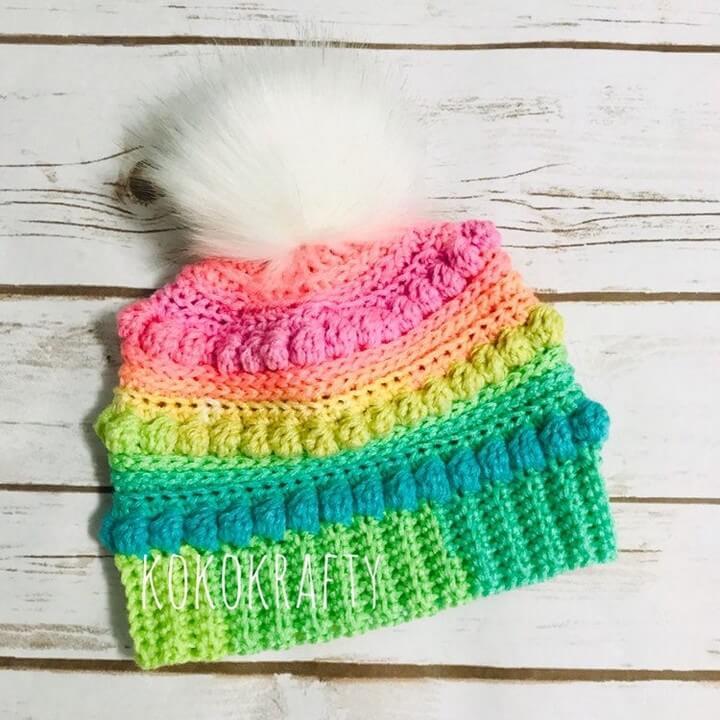 Crochet Summer Color Hat For Winter