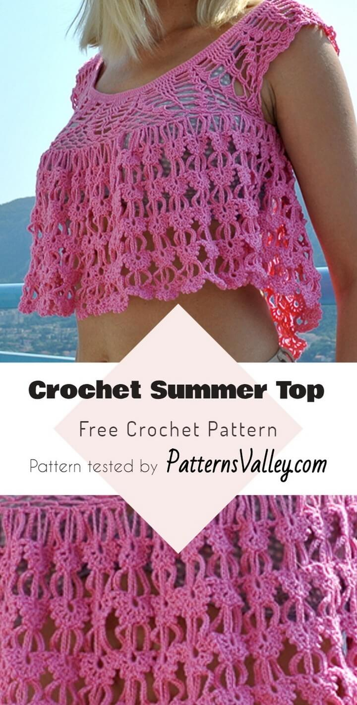 Crochet Summer Top Free Crochet Pattern