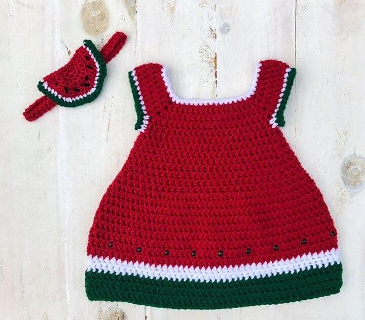 Crochet Watermelon Dress