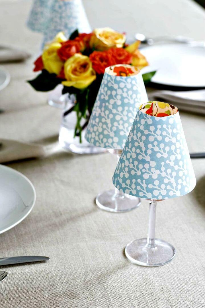 DIY Easy Fabric Candle Lampshade