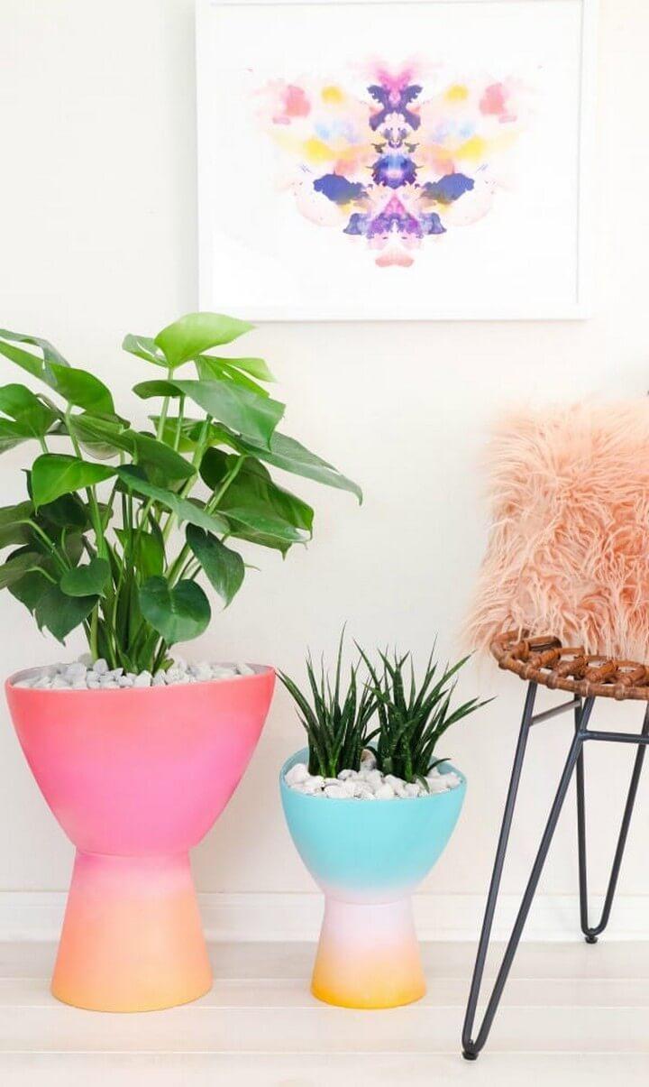 DIY Gradient Planters