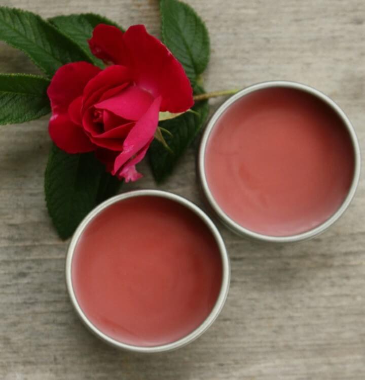 DIY Peppermint Rose Lip Balm