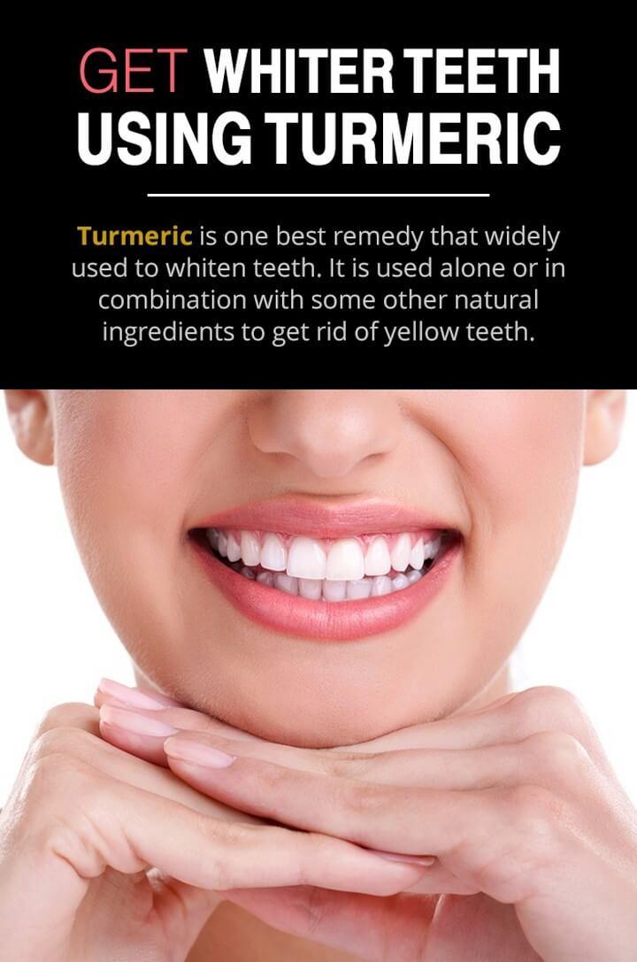 DIY Whiter Teeth with Turmeric