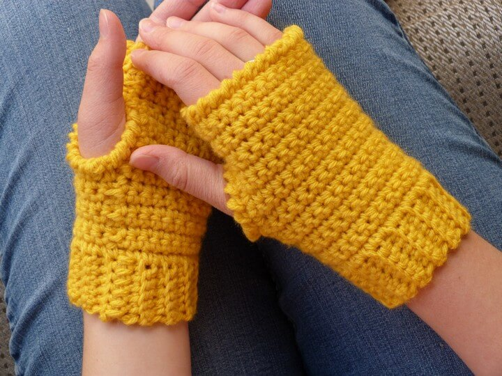 Easy Crochet Driving Gloves