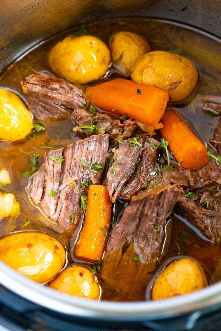 Easy Instant Pot Pot Roast Tender and Juicy