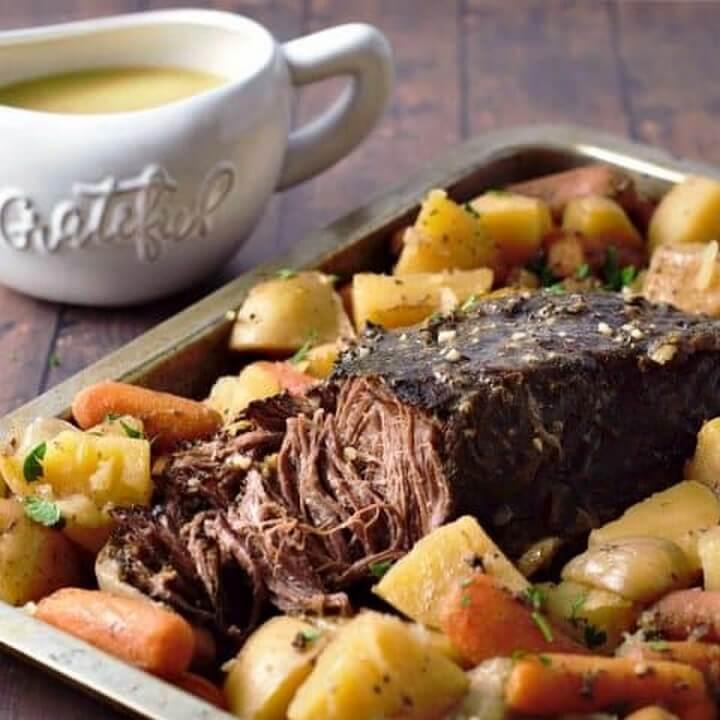 Easy Slow Cooker Pot Roast Dinner Recipe