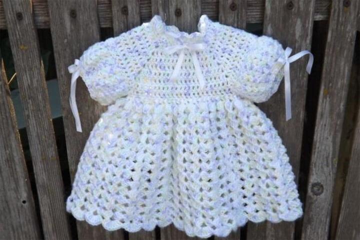 Free Crochet Baby Dress Pattern 1