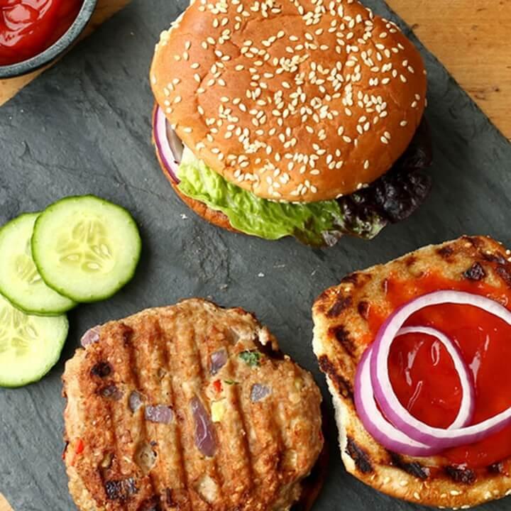 Garden Fresh Turkey Burgers Recipe