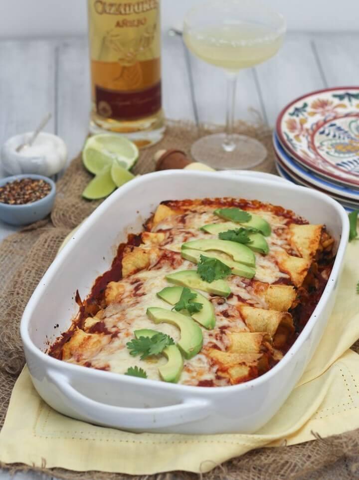Gluten Free Chicken and Butternut Squash Enchiladas, diytomake.com