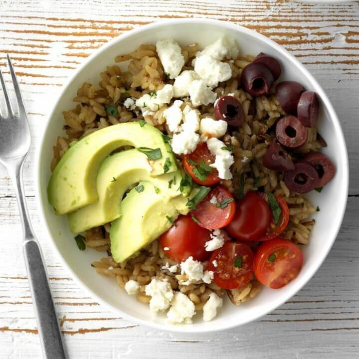 Greek Brown and Wild Rice Bowls Recipe