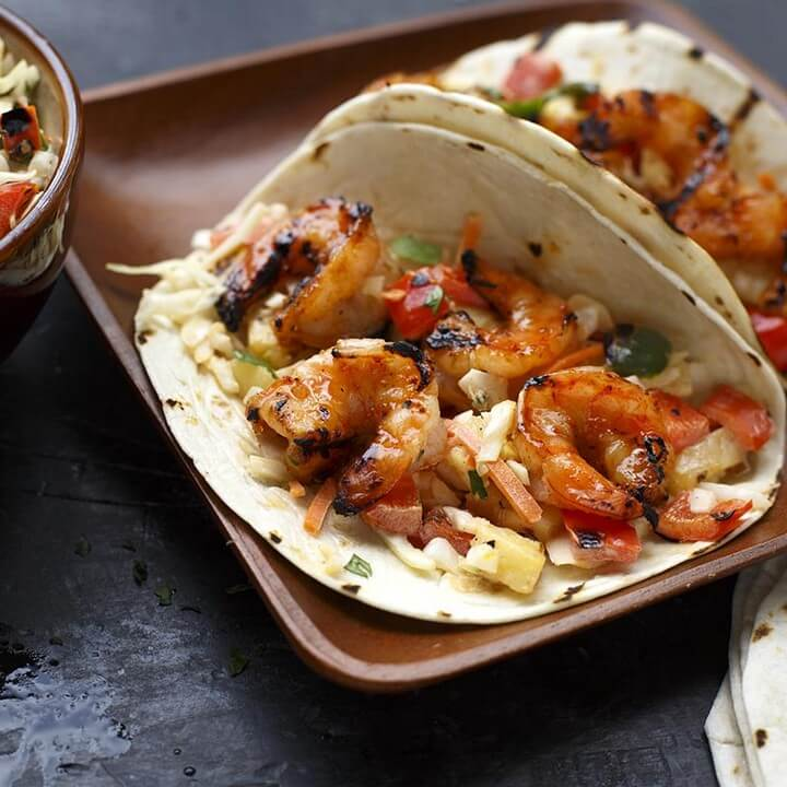 Hawaiian Grilled Shrimp Tacos