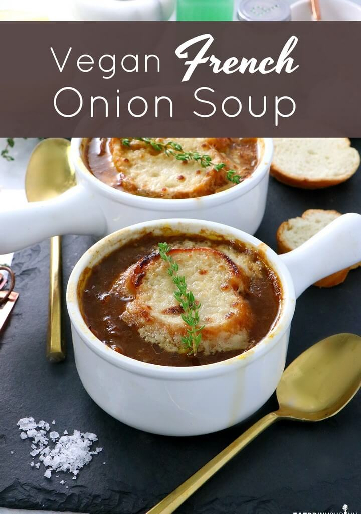 Homemade Vegan French Onion Soup