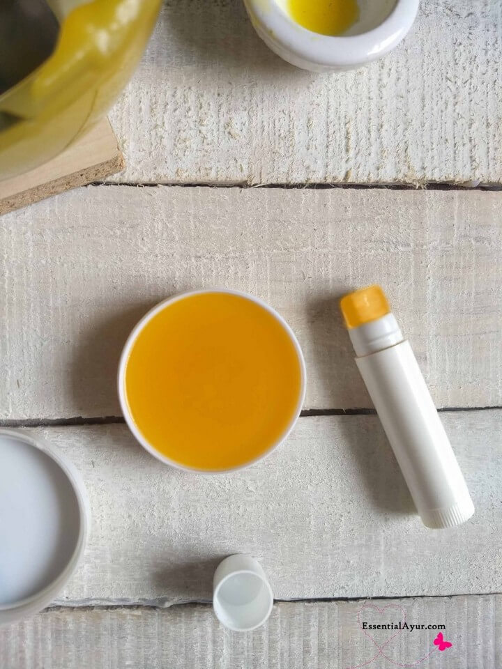 How To Make Lip Balm with Honey Clarified Butte