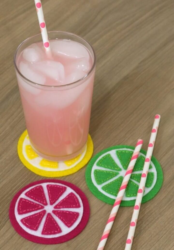 How to Make Felt Citrus Coasters with the Cricut Maker