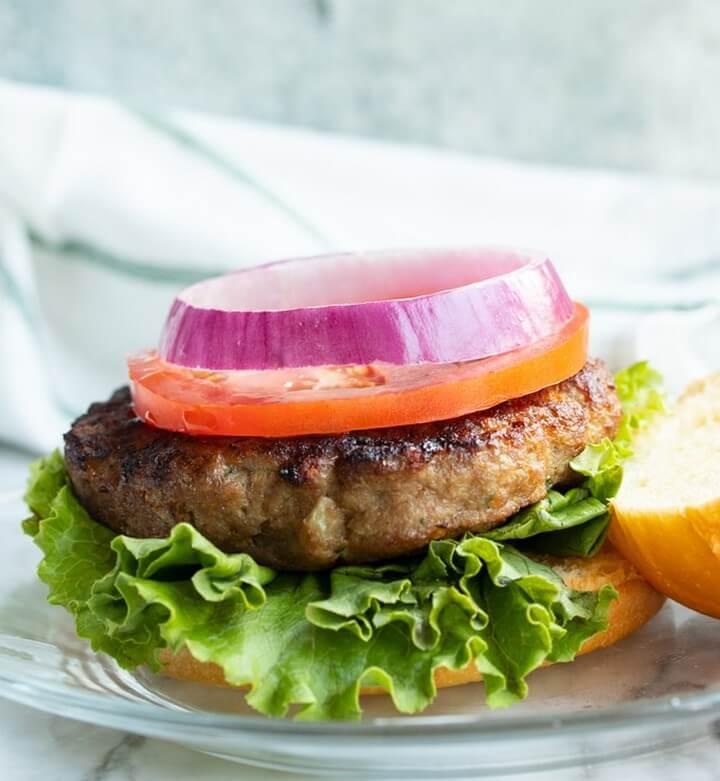 Juicy Air Fryer Turkey Burgers Recipe