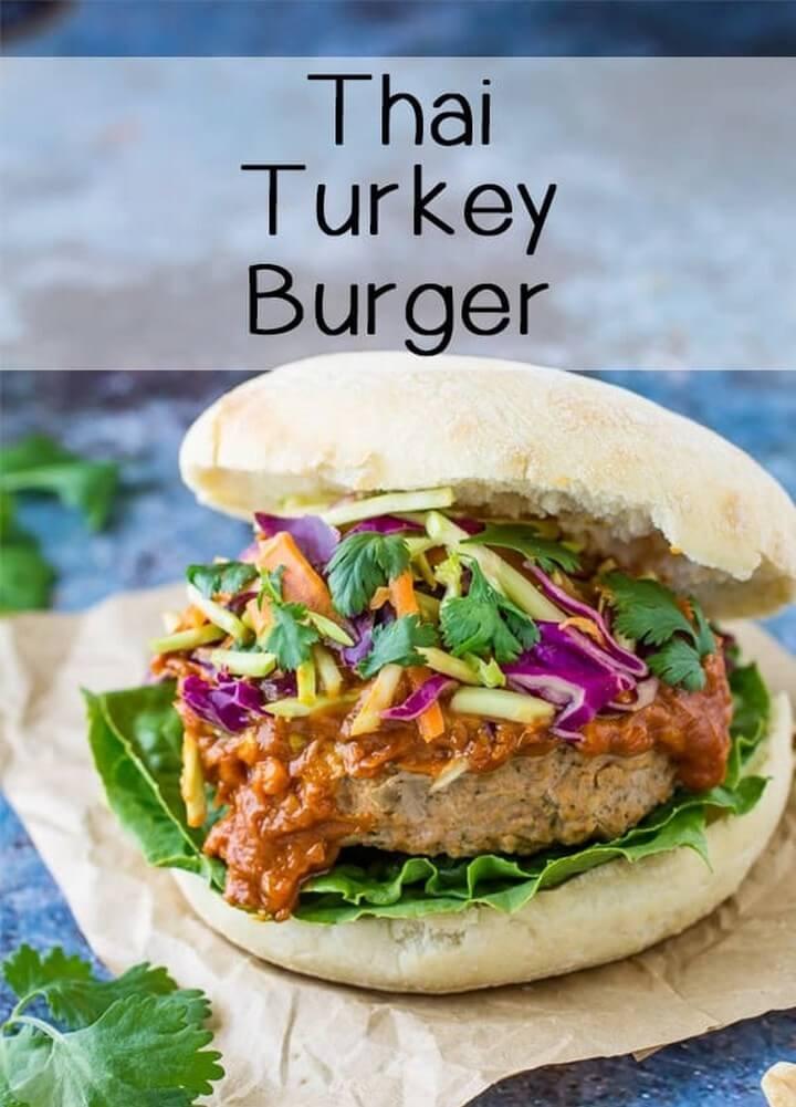 Juicy Thai Turkey Burgers Homemade Burger Recipe