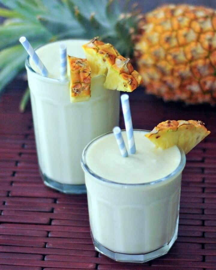Lightened Up Piña Coladas Recipe, diytomake.com
