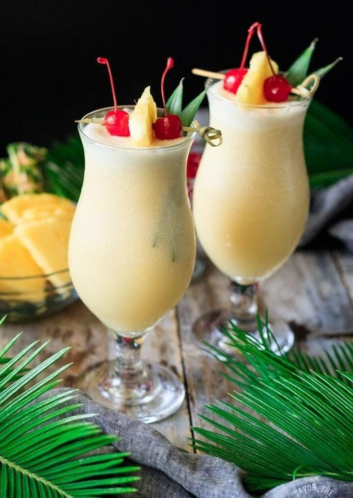 Non Alcoholic Piña Colada Recipe, diytomake.com