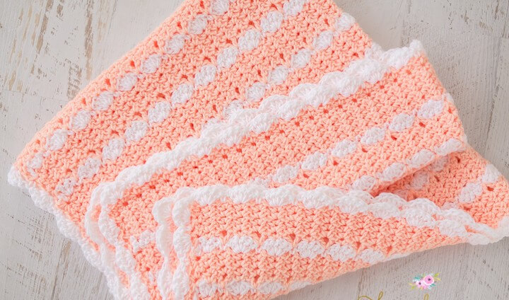 Peaches Cream Baby Blanket – Free Crochet Pattern