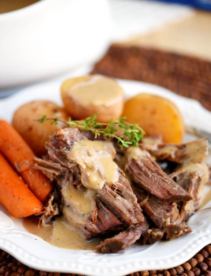 Perfect Pot Roast and Gravy