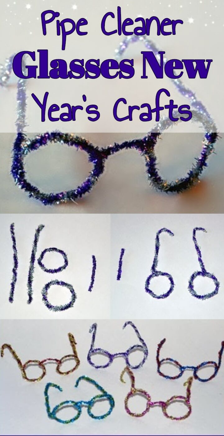 Pipe Cleaner Glasses New Year's Crafts
