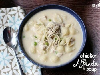 Quick and Easy Chicken Alfredo Soup