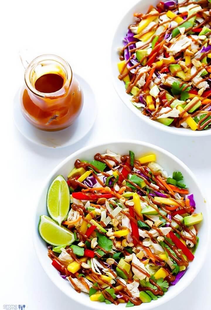 Rainbow Thai Chicken Calad Recipe