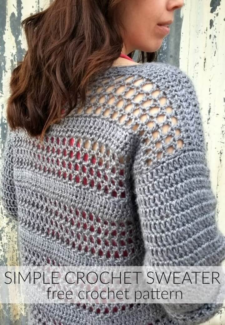 Simple Crochet Sweater Pattern