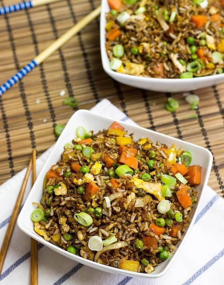 Simple Veggie Fried Rice Vegetarian