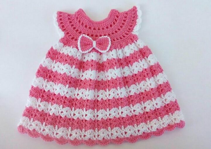 The Pink Crochet Baby Dress