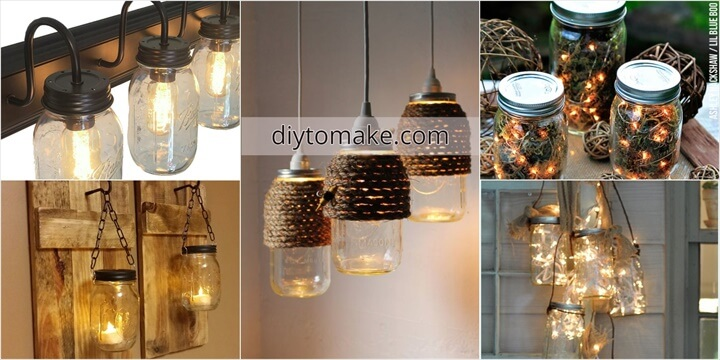 50 Brilliant DIY Mason Jar Lights Ideas