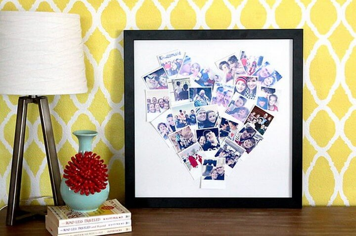 DIY Heart Shaped Photo Collage For Instagram, diy birthday gifts for tween girl, diy gifts, diy gifts for girlfriend, diy birthday gift ideas for teenage girl, creative homemade gifts, handmade birthday gifts, handmade gift ideas for friends, crafty gifts for girls, beautiful diy gifts, easy diy gifts for friends, diy gift ideas for best friend, quick diy gifts, diy gift ideas for boyfriend, diy gift ideas for girlfriend, diy gifts for men, classy diy gifts, diytomake.com
