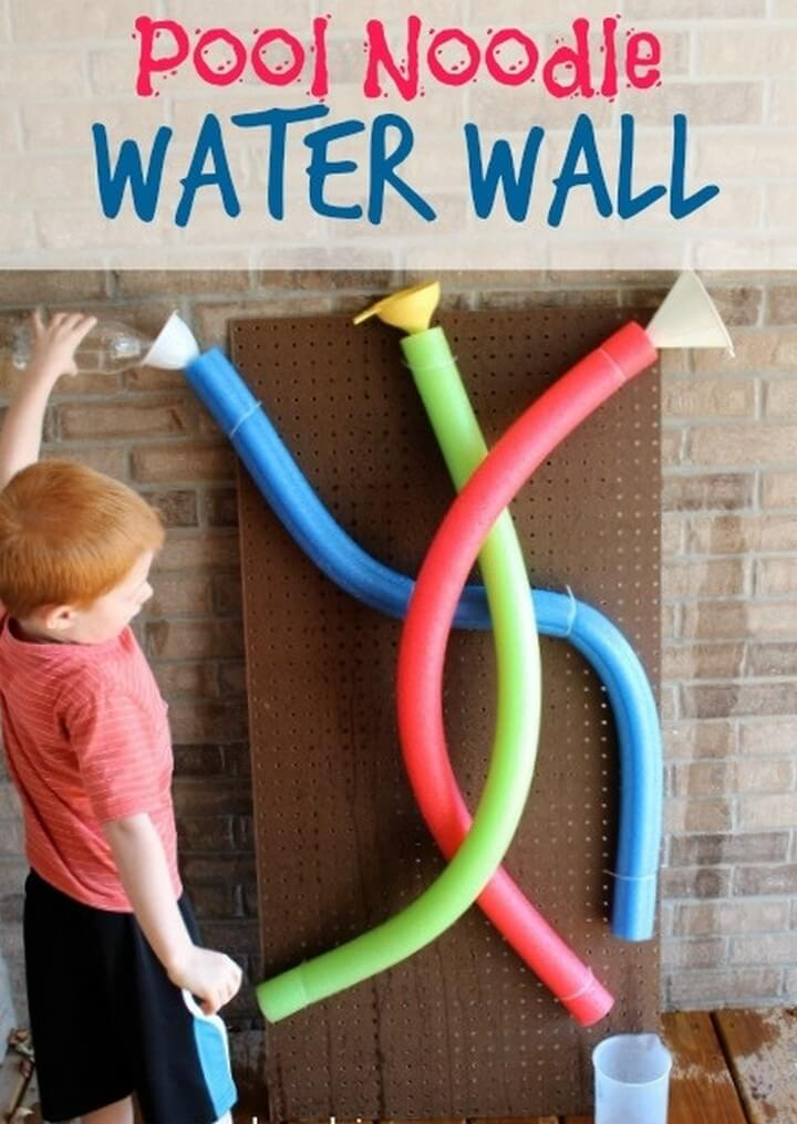 DIY Pool Noodle Water Wall, diy crafts with paper, diy crafts tutorials, diy crafts for girls, easy diy crafts, diy crafts youtube, diy crafts for kids, diy crafts for home decor, diy crafts to sell, diy projects for home, easy diy projects for home, diy projects for men, diy projects for bedroom, fun diy projects for adults, diy projects for kids, diy projects youtube, diy projects electronics, diytomake.com