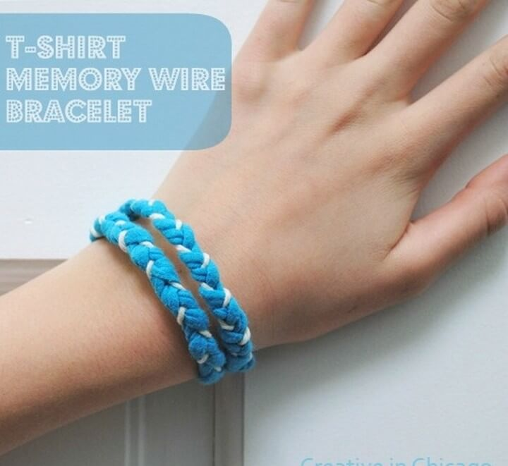 DIY T shirt Memory Wire Bracelet, diy birthday gifts for tween girl, diy gifts, diy gifts for girlfriend, diy birthday gift ideas for teenage girl, creative homemade gifts, handmade birthday gifts, handmade gift ideas for friends, crafty gifts for girls, beautiful diy gifts, easy diy gifts for friends, diy gift ideas for best friend, quick diy gifts, diy gift ideas for boyfriend, diy gift ideas for girlfriend, diy gifts for men, classy diy gifts, diytomake.com